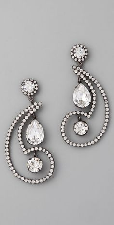 Kenneth Jay Lane Paisley Earrings