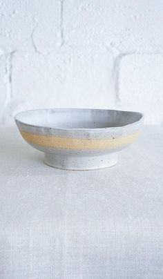 Len Carella Footed Stoneware Bowl