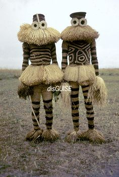 Minganji masqueraders from the Pende peoples near Gungu, Democratic Republic of Congo, 1970. | Photo courtesy of Eliot, Elisofon and The National Museum of African Art, Washington, D.C.