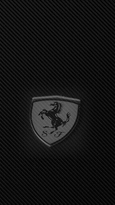 720 x 1280 Ferrari bw blend logo on carbon fire