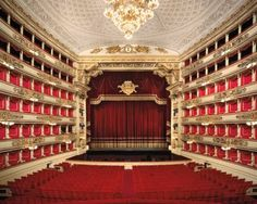 Inside the La Scala Opera House, Milan