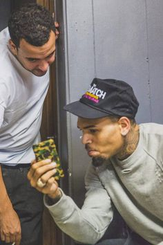 Chris Brown with French Montana