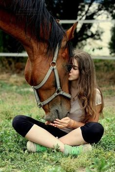 cute girl with horse... Ness, love this idea!! Let me do a Mommy/Daughter/Cricket photo shoot!! Lol