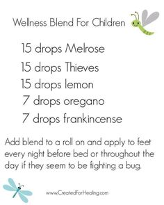 Young Living Essential Oil bug fighter for kids!