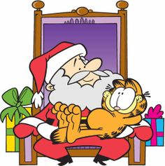 Have you been naughty or nice? Garfield may be on the borderline. Garfield Cartoon, Garfield Quotes, Garfield And Odie, Garfield Comics, Christmas Shows, Christmas Quotes, Christmas Fun, Christmas Images, Christmas Projects