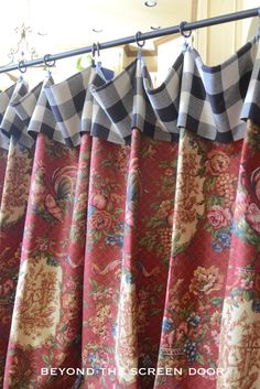 Buffalo Check & Floral Board Mounted Valance Tutorial | Beyond the Screen Door