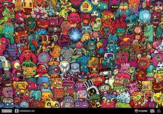 Hidden Doodles Game by Lei Melendres, via Behance