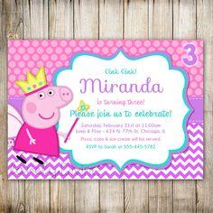 Peppa Pig Birthday Invitation Printable Digital File In 2018