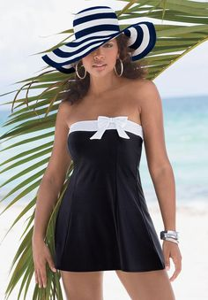 Plus Size Wide Brim Straw Hat | Plus Size accessory shop | Roamans I really like this but not sure I could ever wear it :)
