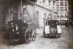 New York's first electric taxicabs - 1902 #NYC