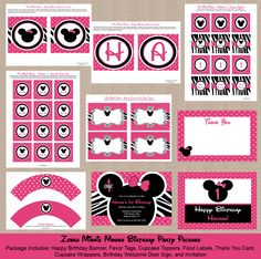 Honeyprint: Minnie Mouse Birthday Party Ideas & Inspiration