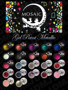 Which one is your favourite METALLIC gel paint? Don't forget offer is still on today, just use the code EXCEL20 to receive your discount at the checkout .  www.susansnailstore.co.uk Which One Are You, Nail Technician, On Today, Nail Artist, Art Work, Don't Forget, Mosaic, Projects To Try, Metallic