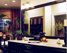 Mirror Mate mirror makeovers ( before and afters) put a frame around your mirror and change your bathroom!