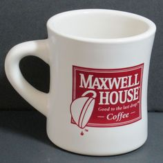 """Maxwell House Coffee Mug Cup """"Good to the Last Drop""""  Famous Anthony's"""