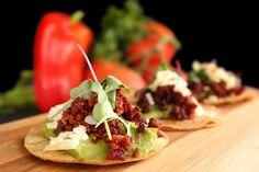 It's Saturday and our calendar is completely booked with weddings and specials events.  One of the appetizers headed straight for #PalmSprings is our exquisite Tostadita de Chorizo appetizer. We grill traditional Mexican sausage until we get fine morsels of concentrated flavor. Then, we serve it with a sprinkle of cheese, creamy guac and peppery micro greens all on a fresh made tostadita.  #tacocatering #ocfoodies