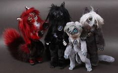 """Set of toys based on the manga """"Dark Butler"""""""