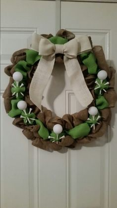 Golf burlap wreath