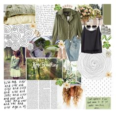 """""""Keep Breathing"""" by xo-sunkissed ❤ liked on Polyvore featuring Edition, H&M, American Eagle Outfitters, Loeffler Randall, Shabby Chic, Clips and Newgate"""