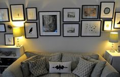 gallery wall + pillows