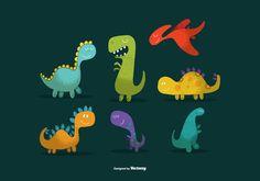 Cute Dinosaur Vectors