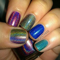 Holographic Nails!!!