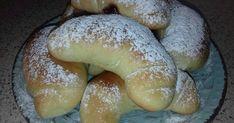 Εξαιρετική συνταγή για Κρουασάν για νηστεία. Bagel, Hamburger, Sausage, Bread, Sweet, Desserts, Food, Meal, Hamburgers