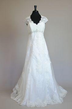 lace back David's Bridal
