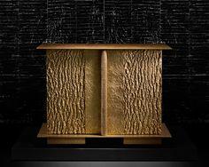 Coffre-sculpture en bronze, Peter Marino Architects.