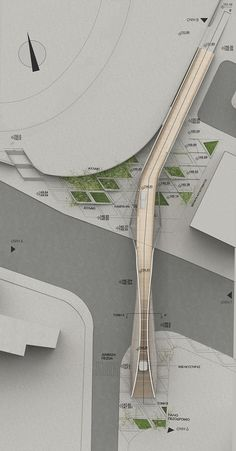 Cantilevered footbridge proposal in Pafos, Cyprus / EP Architects