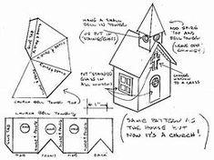 """Результаты поиска изображений по запросу """"Printable Patterns for Putz Glitter Houses"""""""