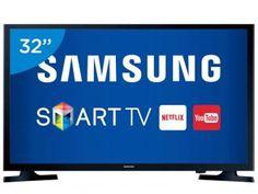 """Smart TV LED 32"""" Samsung UN32J4300 - Conversor Integrado DTV 2 HDMI 1 USB Wi-Fi"""