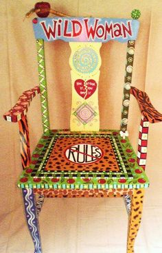 funky paintd furniture | Painted Furniture Finishes | Furniture Funky Finish chairs/benches ...