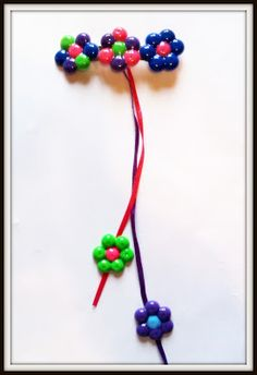 Melted Pony Bead Dangly Ribbon Barrette D.I.Y.