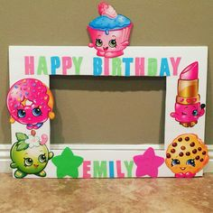 Shopkins birthday photo frame