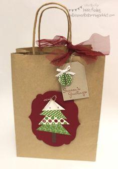 Bolsa de Papel decorada con motivos navideños!