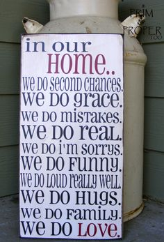 In Our Home Sign in Cream $22