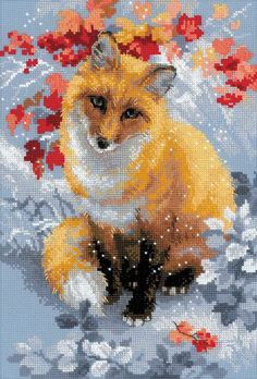 Fox by Riolis, counted cross stitch kit