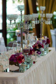 Luxury Diamante Candleabra Wedding Centrepiece