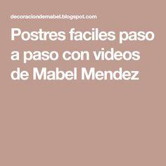 Postres faciles paso a paso con videos de Mabel Mendez Almond Joy, Videos, Desserts, Pan Arabe, Pita, Delaware, Board, Microwaves, World