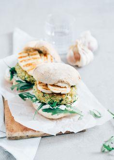 Courgetteburger #veggieburger #zucchini