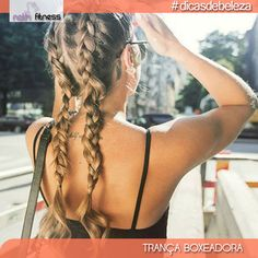 O penteado do momento tem um quê de trança embutida mas com um diferencial que é o acabamento esportista.