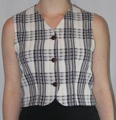 1990's Blue check vest