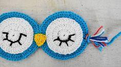 - Máscara para dormir corujinha em crochê com linha 100% algodão, super confortável