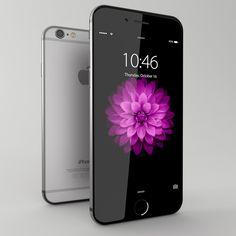 3D Model Iphone 6 Space Gray - 3D Model