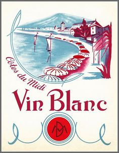 Vin Blanc > Vintage French Wine Label Poster Art Print