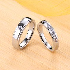 Moissanite Wedding Bands For Couples, Sterling Silver Promise Rings for Couples,His Hers Wedding Band Sets. Custom Promise Rings, Promise Rings For Couples, Rings For Men, Gold Diamond Wedding Band, Wedding Band Sets, Wedding Ring, Wedding Jewelry, Matching Couple Rings, Love Ring