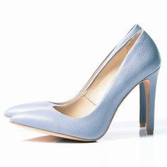 BABY BLUE Stiletto shoes - romanian designers SHOP ONLINE Blue Stilettos, Stiletto Shoes, Pumps, Heels, Baby Blue, Designers, Shopping, Fashion, Blue