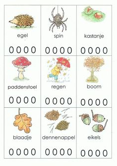 Lettergrepen werkblad kleuters thema Herfst Autumn Activities For Kids, Fall Crafts For Kids, Preschool Worksheets, Preschool Activities, Primary School, Pre School, Busy Boxes, Speech Language Therapy, Autumn Crafts