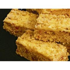 Oaty coconut slice, oats recipe, brought to you by Australian Women's Weekly Oats Recipes, Brownie Recipes, Chocolate Recipes, Sweet Recipes, Baking Recipes, Healthy Recipes, Kitchen Recipes, Vegetarian Recipes, Healthy Food