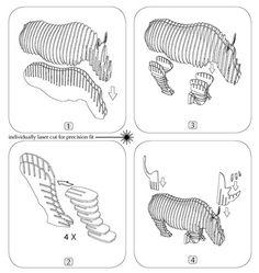 Cardboard Taxidermy rhino - Recherche Google